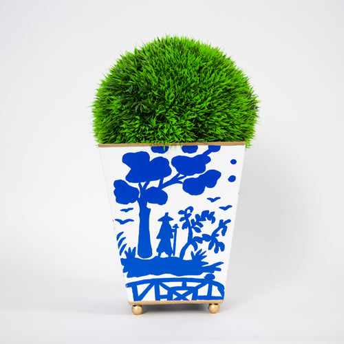 Blue & White Planter