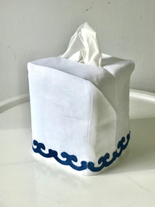 Navy Ice Chantal Tissue Box Cover