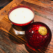 Cut Glass Crystal Candle - Red