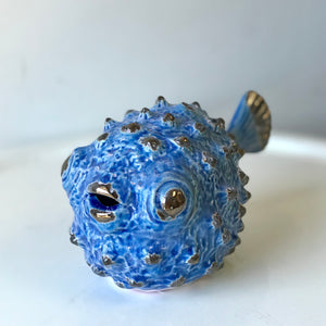 Blue Ceramic Puffer Fish