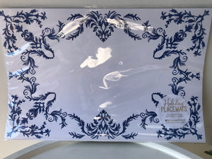 Placemat-Blue Lace Floral