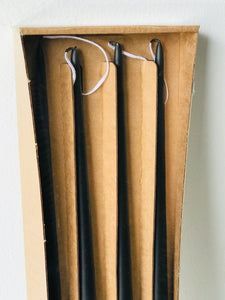 "Black Taper Candles (19.5""H) Set of 4"