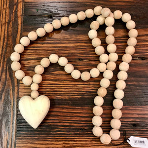 Wooden Heart Prayer Beads
