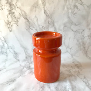 Orange Ceramic Candle Holder