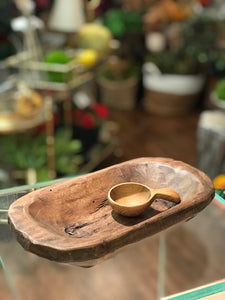 Hand Carved Teak Scoop