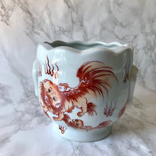 Foo Dog Porcelain Cachepot