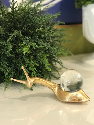 Gold Snail Paperweight