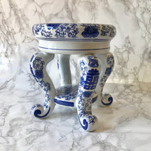 Blue & White Ceramic Plant Stand