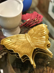 Butterfly Plate, Gold