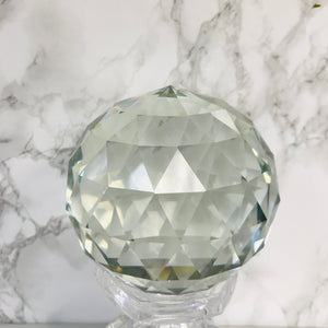 Diamond Cut Glass Orb