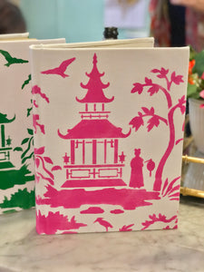 Hand Painted Vintage Pagoda Books