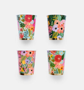 GARDEN PARTY CUPS/SET OF 12