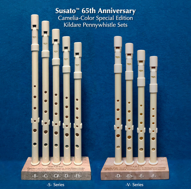 Two 65th Anniversary pennywhistle sets