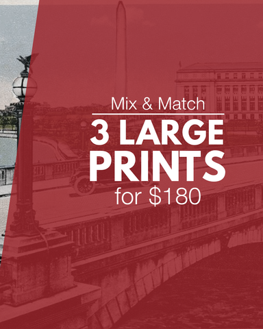 3 large prints for $180