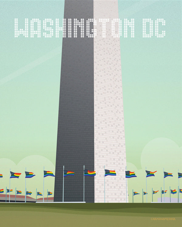 Rainbow flags at the Washington Monument [#22]