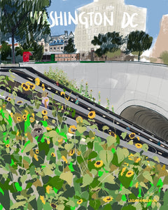 Sunflowers at the Dupont Circle Station [#115]