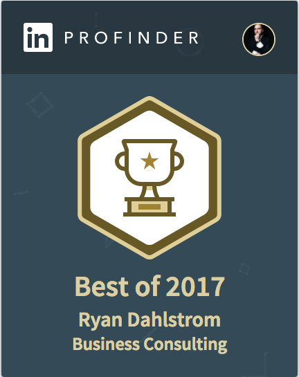 Awarded LinkedIn's Best Business Consulting of 2017