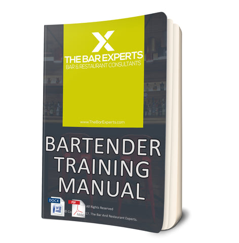 Bartender Training Manual - Editable Word Doc