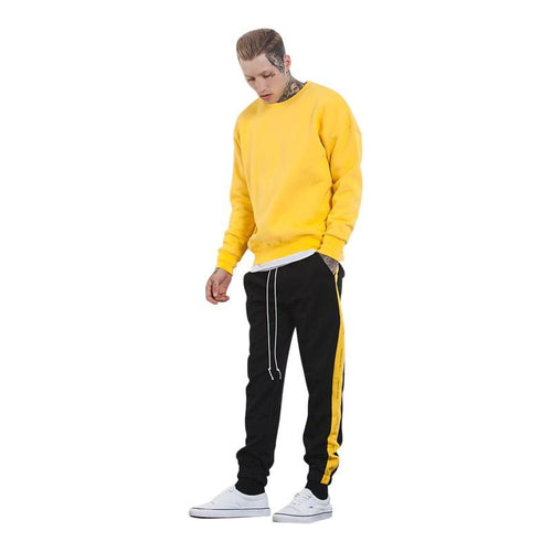 Autumn Mens Sweatpants - Black Yellow / L - Sweatpants