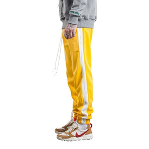 Autumn Mens Sweatpants - Yellow White / L - Sweatpants