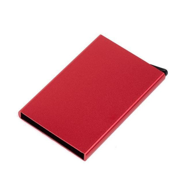 Rfid Blocking Card Holder - Red