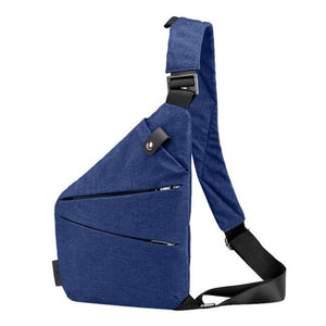 Simple Shoulder Bag - Deep Blue - Shoulder Bag