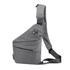 Simple Shoulder Bag - Gray - Shoulder Bag