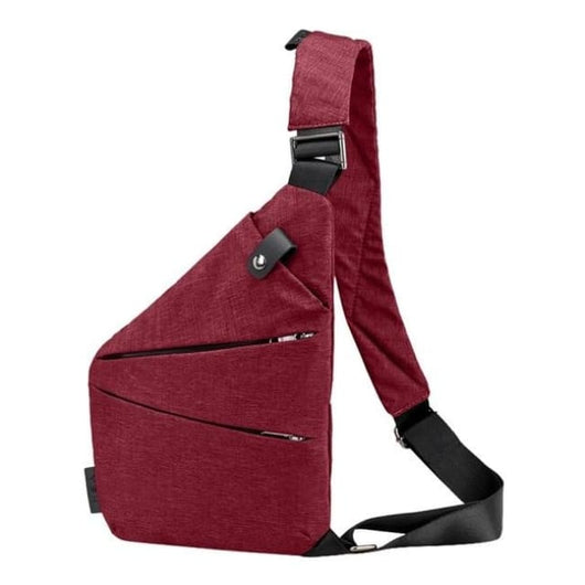 Simple Shoulder Bag - Red - Shoulder Bag