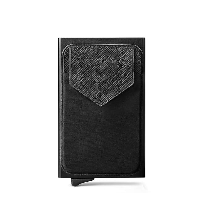 Slim Card Holder With Rfid Blocking Technology - Black - Accesories