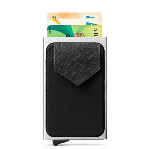 Slim Card Holder With Rfid Blocking Technology - Silver - Accesories