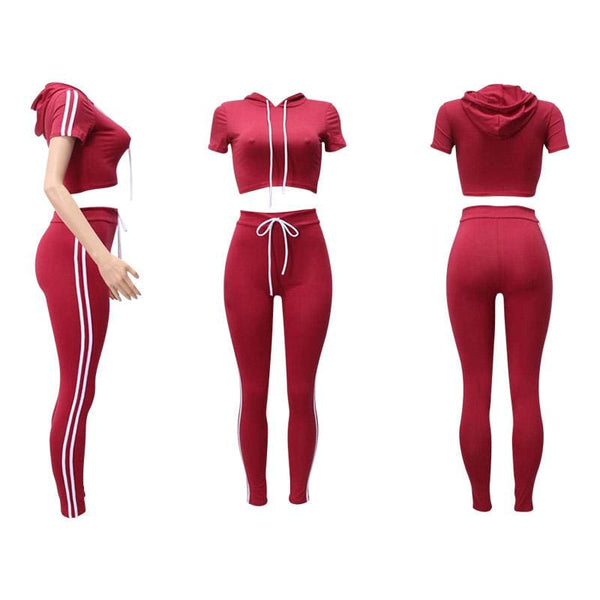 Womens Tracksuit - Red / L - Tracksuit