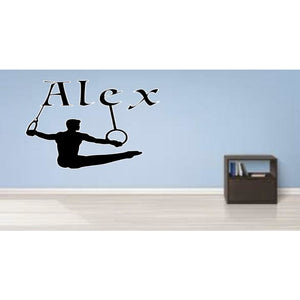 Personalised Boys' Rings Wall Sticker