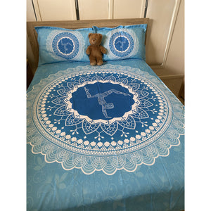 Blue Mandala Bed Cover Set