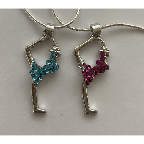 Gymnast Silhouette Necklace