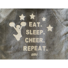 Pyjama Onesie in grey cheer cheerleading