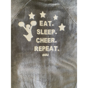 grey pyjama onesie cheer cheerleading