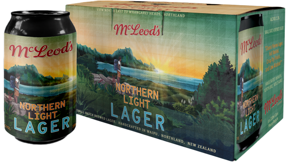 Northern Light Lager 330ml can x 6 Pack
