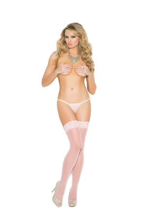 Sheer Lace Top Thigh Highs - Twilight Silk