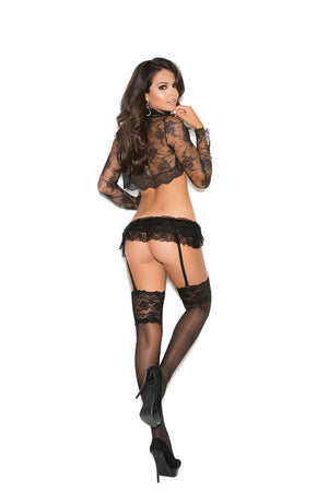 Sheer Stockings with 5 Inch Lace Top - Twilight Silk