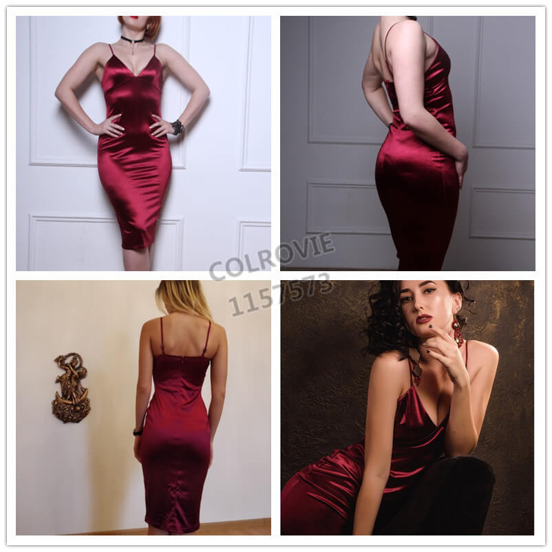 Burgundy Party Club Dress - Twilight Silk