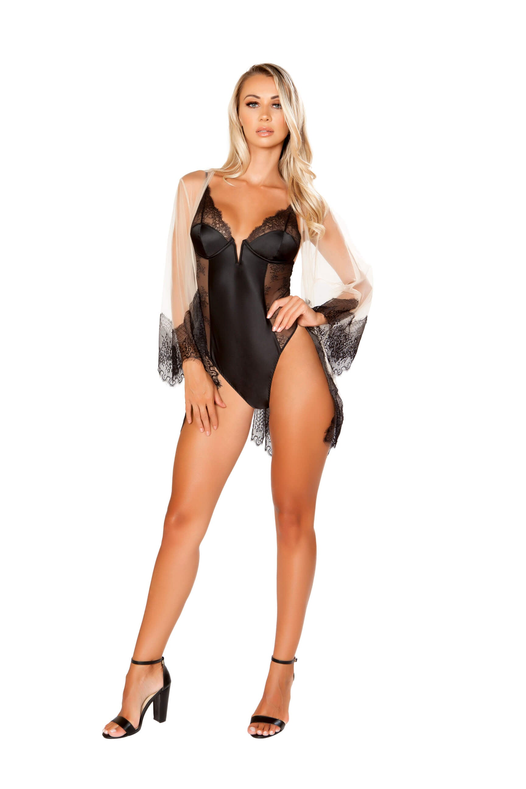 Sheer & Eyelash Robe (Plus Available!) - Twilight Silk