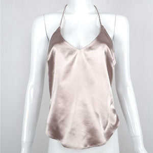 Sexy Backless Silk Satin Tank Top Camisole - Twilight Silk