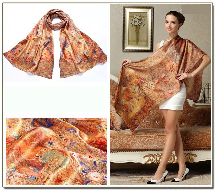 Mulberry Silk  Printed Long Scarf
