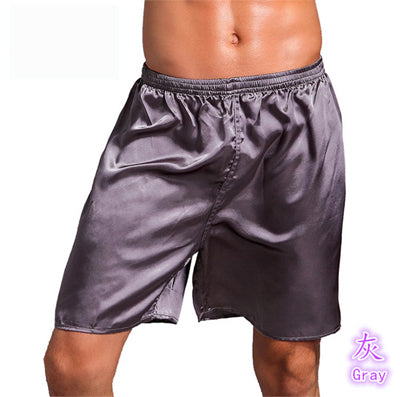 Men's Silk Satin Boxers - Twilight Silk