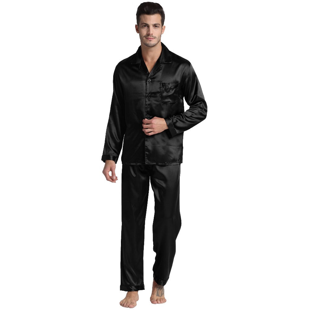 Tony & Candice Men's Silk Satin Pajamas - Twilight Silk