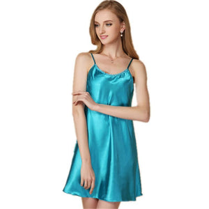 Silky Satin Classic Sleep Chemise - Twilight Silk