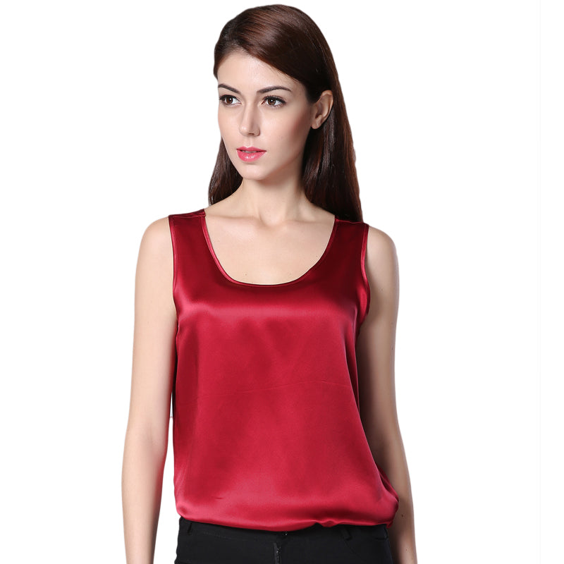 100% Silk Tank Top - Twilight Silk