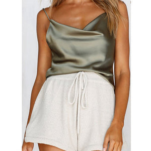 Sexy Satin Cami Tank Top - Twilight Silk