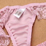 Sexy Mulberry Silk and Lace Thong Panties - Twilight Silk