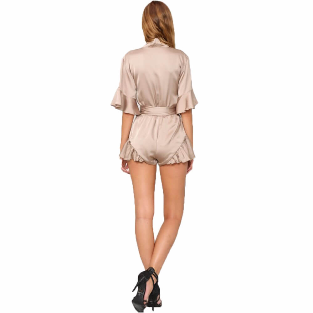 Sexy Satin Playsuit Beach Romper - Twilight Silk